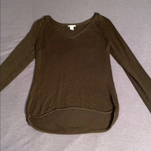over sized green sweater from h&m